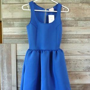 Love...ady fit flare  blue dress sleeveless Sm.